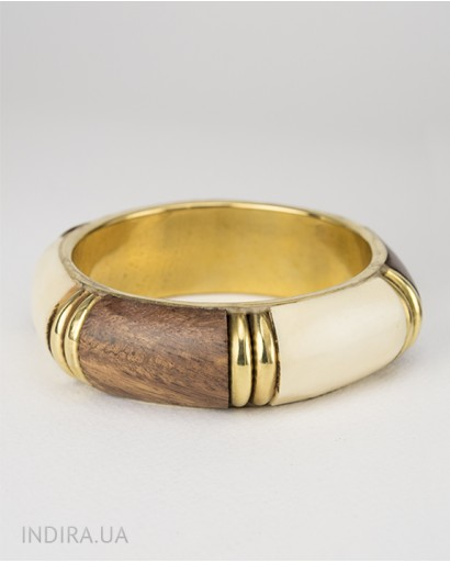 Wood and Bone Bracelet