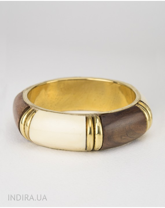 Wood and Bone Bracelet