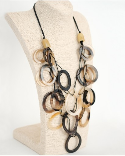Necklace With Horn Rings