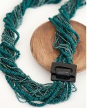 Wood and beads, necklace