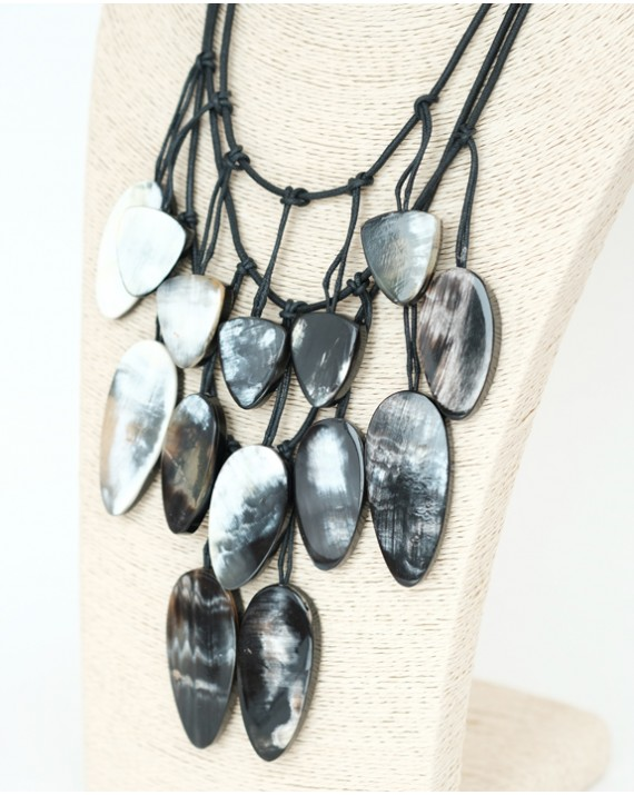 Horn multi layered necklace