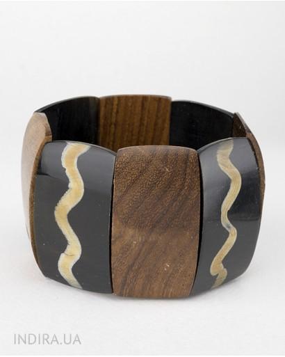 Horn and Wood Bracelet