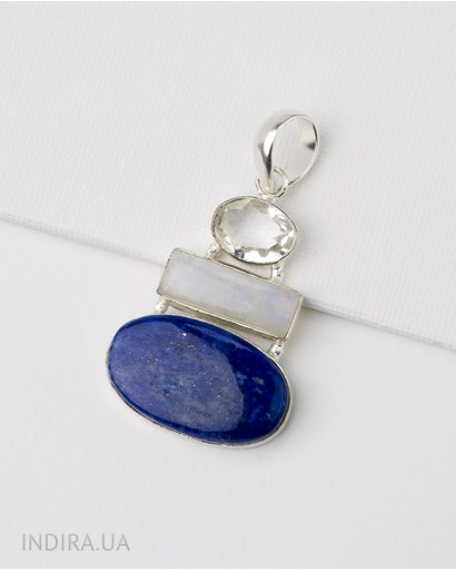 Lapis Lazuli and Moonstone Pendant
