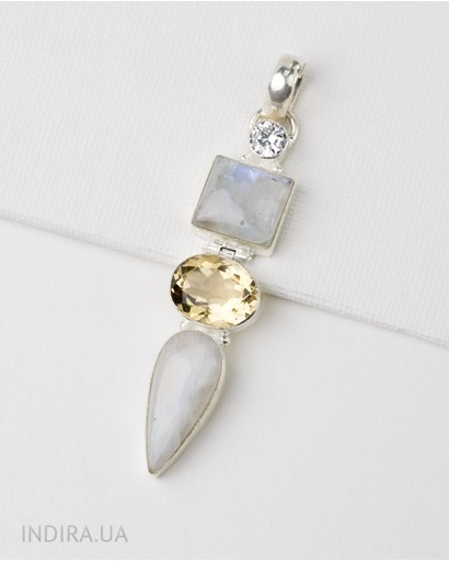 Moonstone and Citrine Pendant