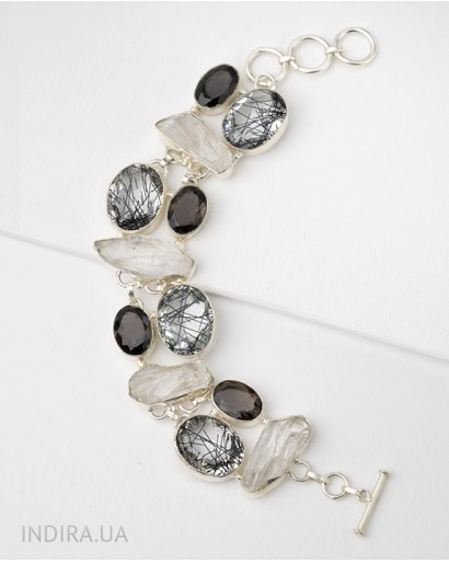 Smoky and Rutile Quartz Bracelet