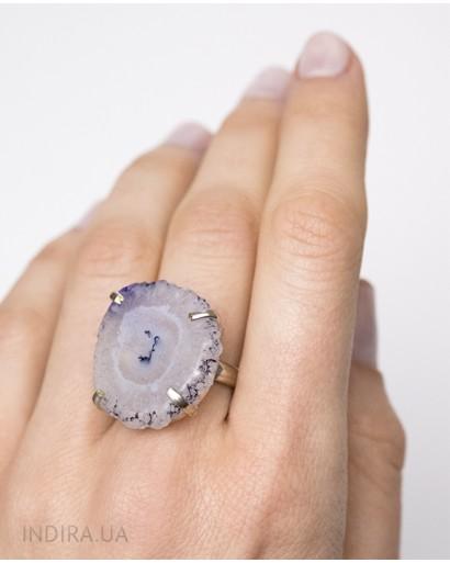 Кольцо с друзой агата