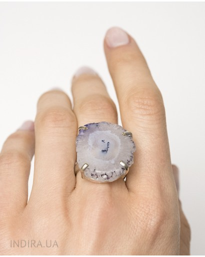 Agate Druse Ring