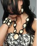 Horn and Shell Earrings