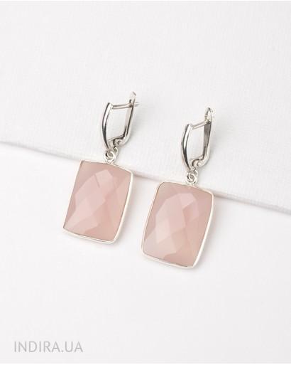 Pink Chalcedony Earrings