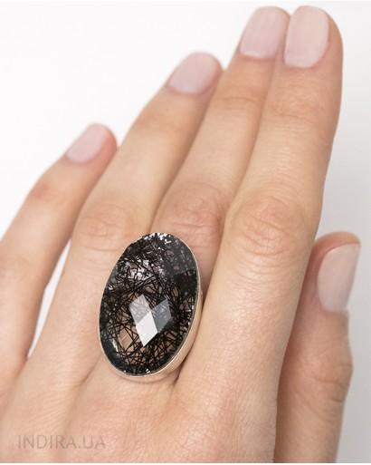 Кольцо с рутиловым кварцем