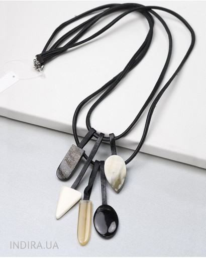 Horn and Leather Pendant