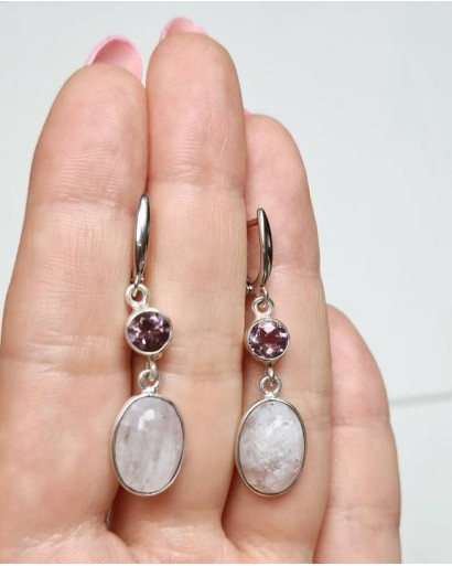 Amethyst and Moonstone Earrings