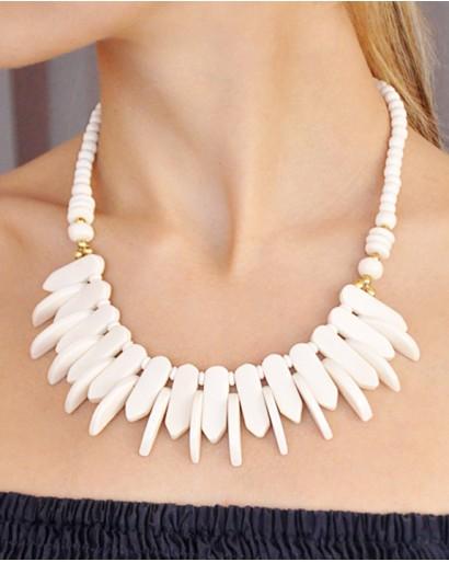 White bone necklace