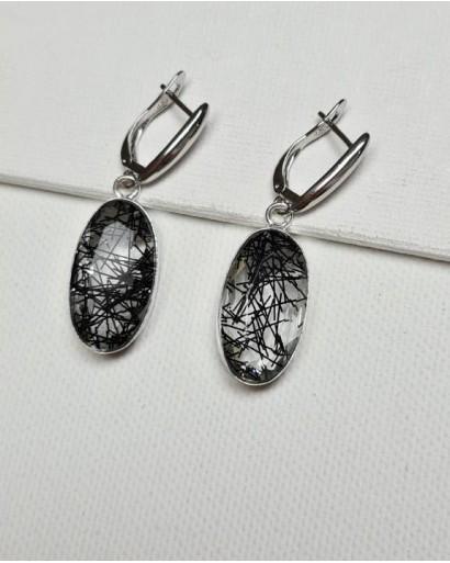 Rutile Quartz Earrings