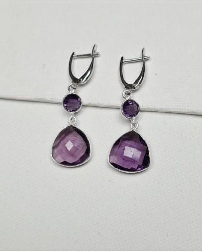 Zircon and Amethyst Earrings