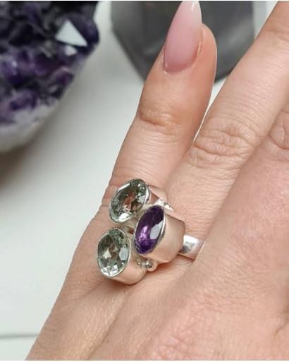 Green Amethyst Amethyst Ring