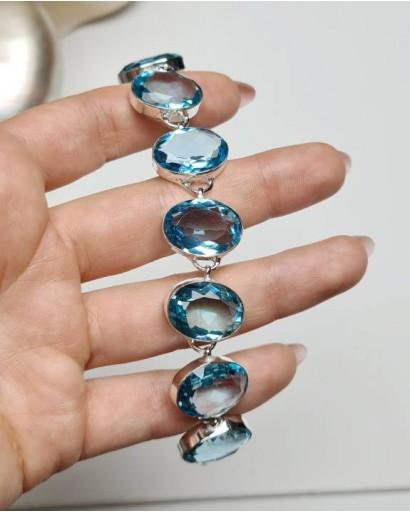 Blue Quartz Bracelet