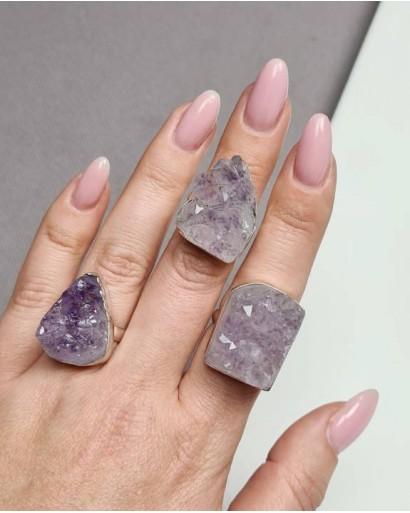 Druse Amethyst Ring