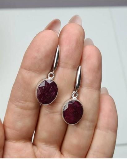 Dark Ruby Earrings