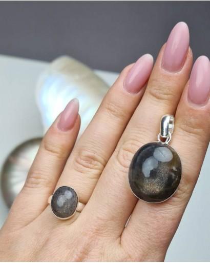 Gray Star Sapphire Pendant