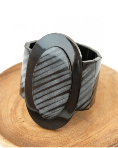 Black horn bracelet