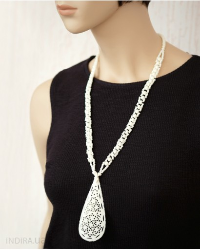 White Bone Necklace