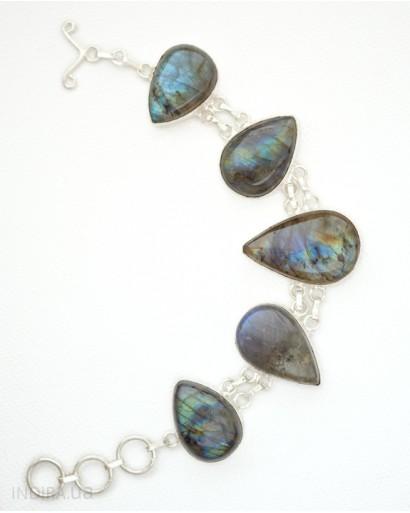 Лабрадор, браслет из германского серебра