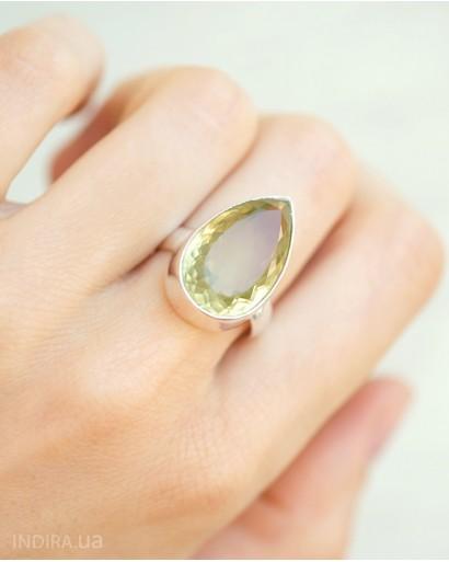 Кольцо с цитрином в германском серебре