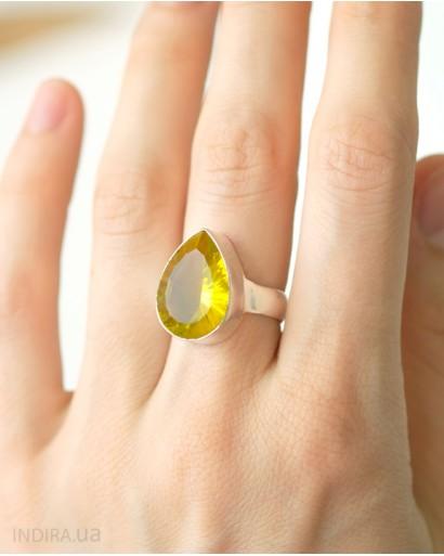 Кольцо с мистик цитрином