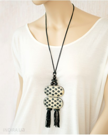 Spotted Horn Pendant