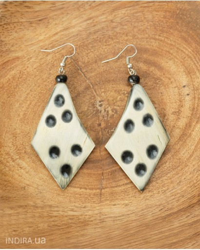 Spotted Horn Earrings