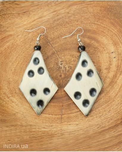Spotted Horn Earrings