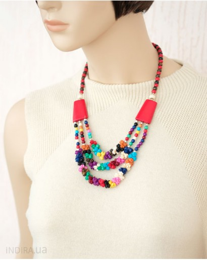 Multicolored Bone Necklace