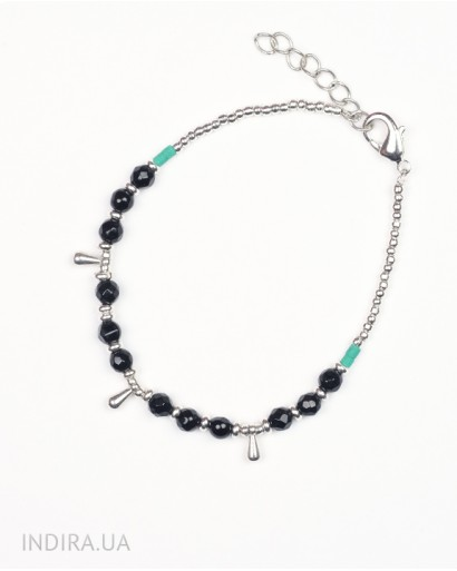 Bracelet with Black Agate