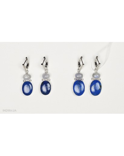 Lapis Lazuli and Moonstone Earrings