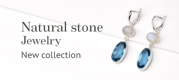 New jewelry with natural stones